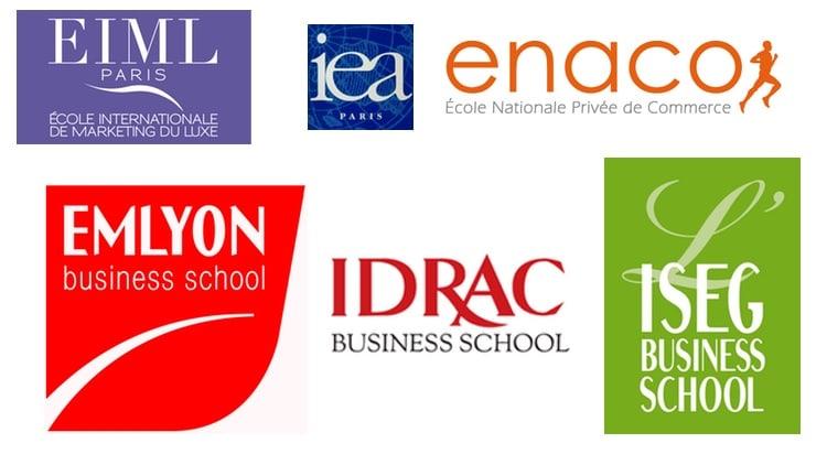 Logos des bachelor commerce