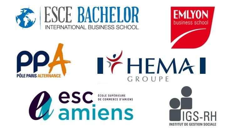 Logos des bachelor en ressources humaines
