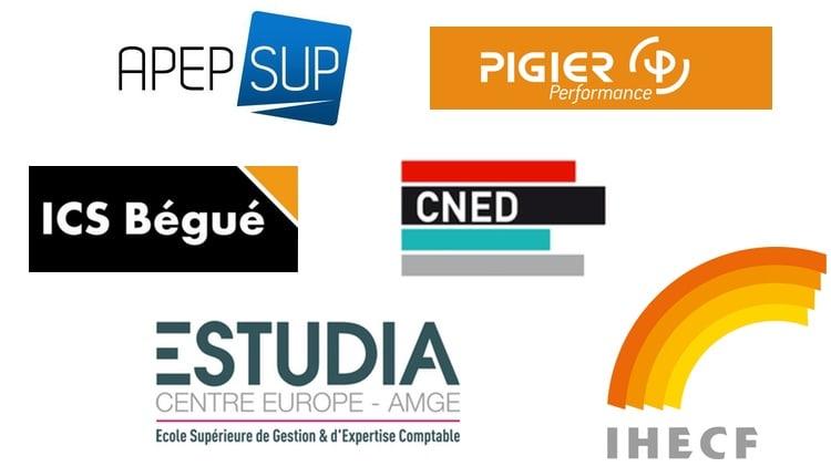 Logos des écoles de DSCG