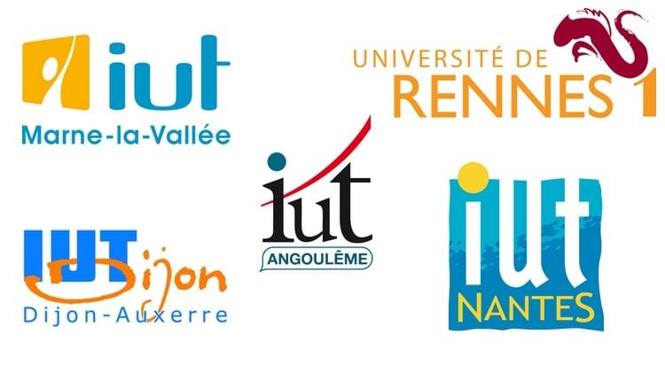 Logos des IUT de France