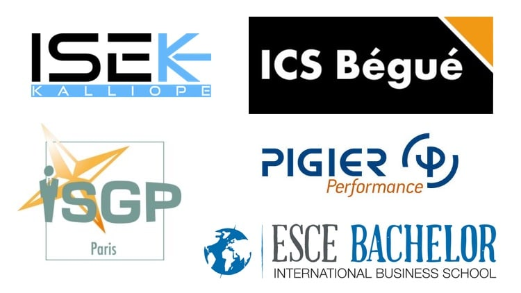 logos des écoles de ressources humaines parisiennes