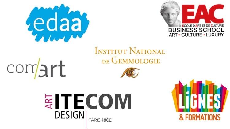 Logos des écoles d'art en France
