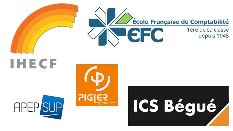 Logos des écoles de comptabilité