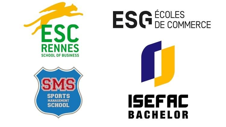 logos écoles de sport en France