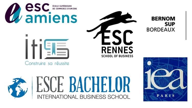 Logos écoles de commerce international