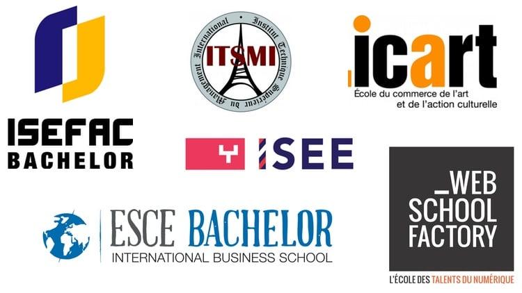 logos écoles de management parisiennes