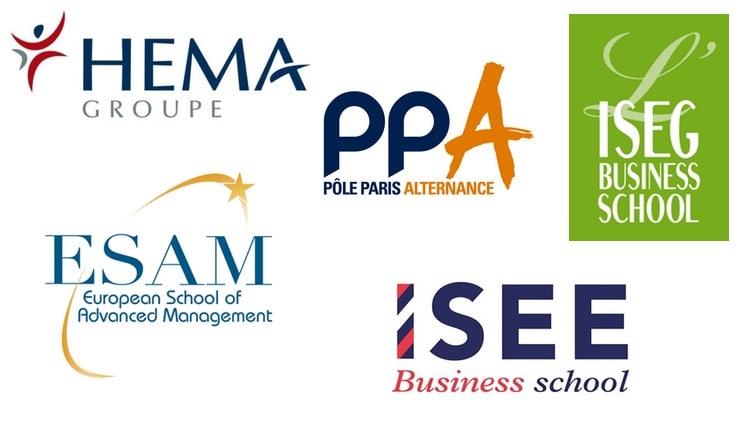 Logos des écoles de master comptabilité