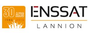 Logo de ENSSAT - Ecole nationale supérieure des sciences appliquées et de technologie, Université Rennes 1