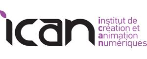Logo de ICAN - Institut de création et d'animation numériques