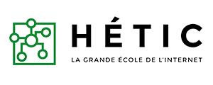 Logo de HETIC, la grande école de l'Internet.