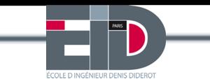 Logo de EIDD Paris - École d'ingénieurs Denis Diderot Paris, Université Paris Diderot