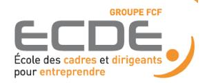 Logo de Ecole des Cadres et Dirigeants pour Entreprendre