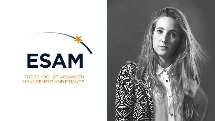Mégane étudiante à l'ESAM