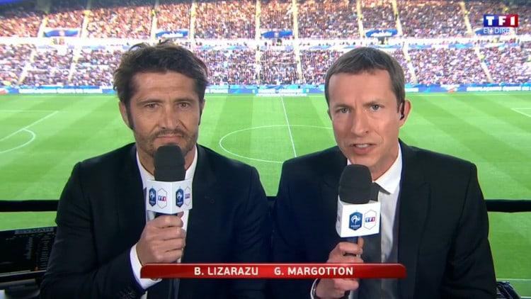 Bixente Lizarazu et Grégoire Margotton sur TF1