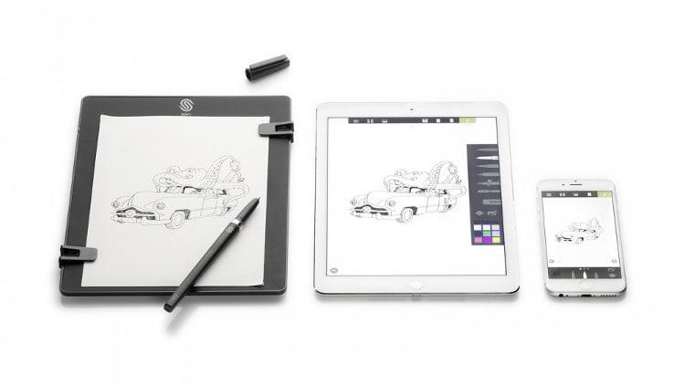 la tablette slate et un bloc-notes