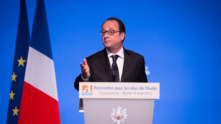 François Hollande en meeting
