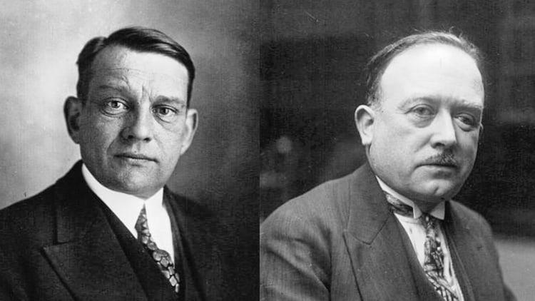 René Coty et Vincent Auriol