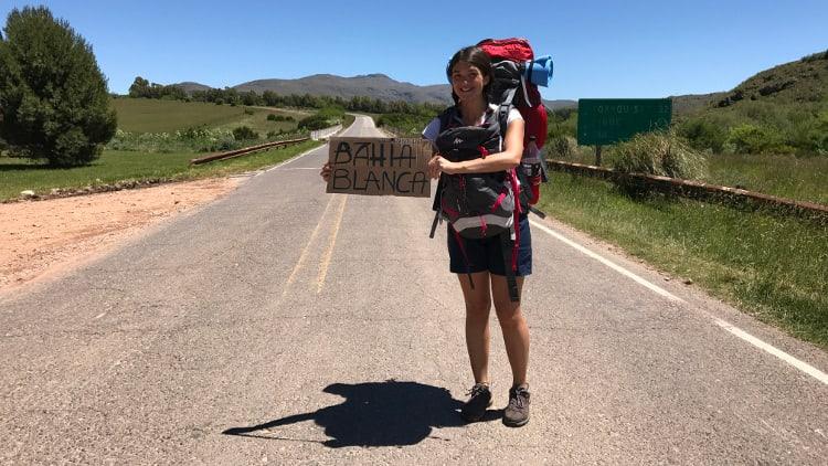 Solène Dony fait du stop en Amérique du Sud