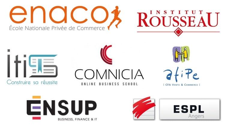 Logos des écoles de BTS MUC